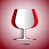 Tazza del vino da carta -  Fotografia Stock Libera da Diritti