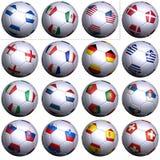 Tazza del Wold di calcio della Sudafrica, prime 16 nazioni royalty illustrazione gratis