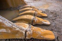 Tazza dell'escavatore a cucchiaia rovescia Fotografia Stock