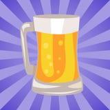 Tazza dell'illustrazione di vettore della birra leggera Fotografia Stock