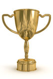 Tazza dell'oro del vincitore. Fotografia Stock