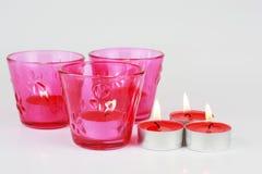 Tazza della candela e candela Immagini Stock