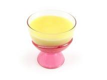 Tazza della crema del dessert del pudding Immagini Stock Libere da Diritti