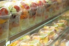 tazza della frutta Fotografie Stock