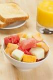 Tazza della frutta del melone Fotografia Stock Libera da Diritti