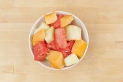 Tazza della frutta del melone Immagine Stock
