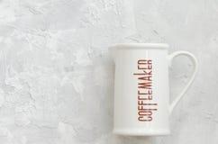 Tazza della macchinetta del caffè Fotografia Stock Libera da Diritti