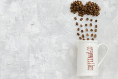 Tazza della macchinetta del caffè Immagini Stock Libere da Diritti