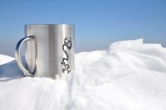 Tazza della neve fotografia stock libera da diritti