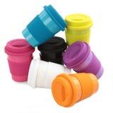 Tazza della plastica di colore Fotografia Stock