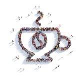 Tazza della tazza di caffè della gente 3d del tè Immagini Stock Libere da Diritti
