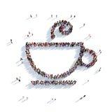 Tazza della tazza di caffè della gente 3d del tè Fotografia Stock