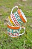 tazza di amore fotografia stock
