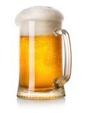 Tazza di birra chiara Fotografia Stock Libera da Diritti