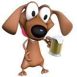 Tazza di birra del cane Immagini Stock Libere da Diritti