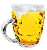 Tazza di birra di vetro Immagini Stock