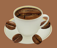 Tazza di caffè. Fotografie Stock Libere da Diritti