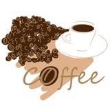 Tazza di caffè + archivio di vettore ENV Fotografia Stock
