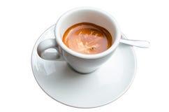 Tazza di caffè, arte della schiuma Immagini Stock