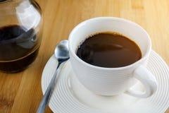 Tazza di caffè bianca Fotografie Stock