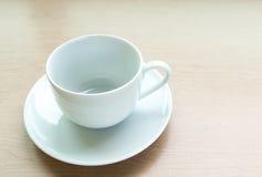 Tazza di caffè in bianco Immagini Stock Libere da Diritti