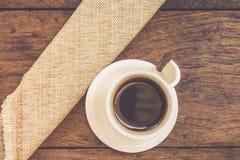 Tazza di caffè bianco Fotografie Stock Libere da Diritti
