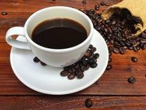 Tazza di caffè bianco Immagine Stock