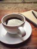 Tazza di caffè bianco Fotografia Stock