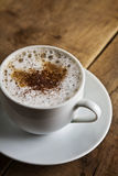 Tazza di caffè bianco perfetta Fotografia Stock