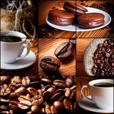 Tazza di caffè, biscotti del cioccolato Fotografia Stock Libera da Diritti