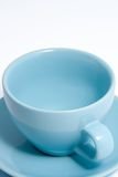 Tazza di caffè blu immagine stock