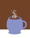Tazza di caffè blu Fotografie Stock