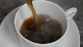 Tazza di caffè calda archivi video