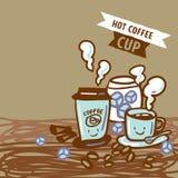 Tazza di caffè calda Fotografia Stock