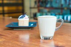 tazza di caffè calda del latte Fotografia Stock