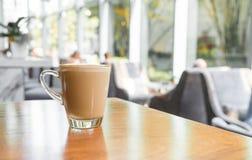 tazza di caffè calda del latte Immagine Stock Libera da Diritti