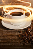 Tazza di caffè caldo fotografia stock