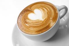 Tazza di caffè con amore Fotografie Stock Libere da Diritti