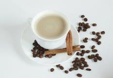 Tazza di caffè con cannella Immagini Stock