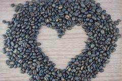 Tazza di caffè con cuore Fotografia Stock