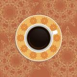 Tazza di caffè con gli elementi orientali decorati Immagine Stock Libera da Diritti