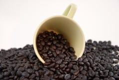 Tazza di caffè con i chicchi di caffè Immagine Stock Libera da Diritti