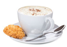 Tazza di caffè con il biscotto Immagini Stock Libere da Diritti