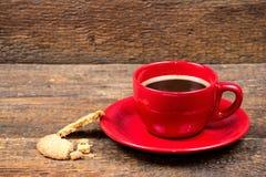 Tazza di caffè con il biscotto Immagine Stock Libera da Diritti