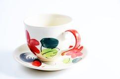 Tazza di caffè con il modello Fotografia Stock Libera da Diritti
