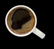 Tazza di caffè con il percorso di residuo della potatura meccanica Fotografia Stock Libera da Diritti