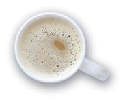 Tazza di caffè con il percorso di residuo della potatura meccanica Fotografie Stock Libere da Diritti