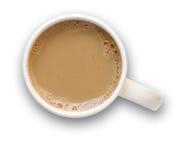 Tazza di caffè con il percorso di residuo della potatura meccanica Immagine Stock Libera da Diritti