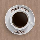 Tazza di caffè con la citazione Fotografie Stock