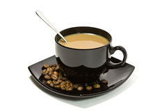 Tazza di caffè con latte Immagine Stock Libera da Diritti